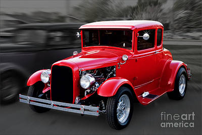 1930 Ford Model A Coupe Poster