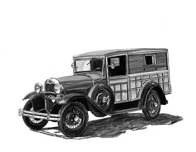 1930 Ford Special Delivery Poster by Jack Pumphrey