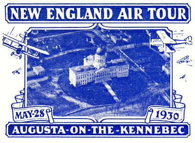 1930 New England Air Show Poster by Historic Image