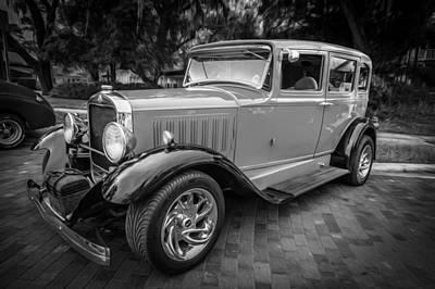 1930 Studebaker Sedan Painted Bw     Poster