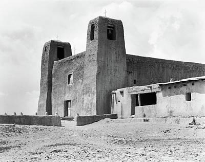 1930s Adobe Building Architecture Poster