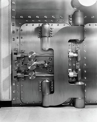 1930s Closed Bank Vault Door Poster