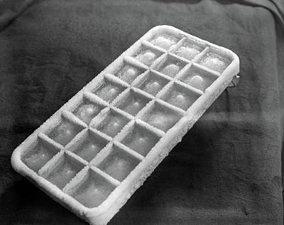 1930s Cold Frosty Aluminum Ice Cube Tray Poster