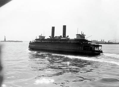 1930s Ferry Boat With Two Smoke Stacks Poster