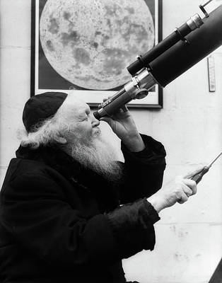 1930s Old Astronomer White Hair Poster