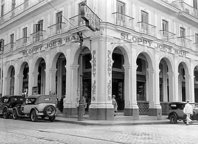 1930s Outside Facade Of Sloppy Joes Bar Poster