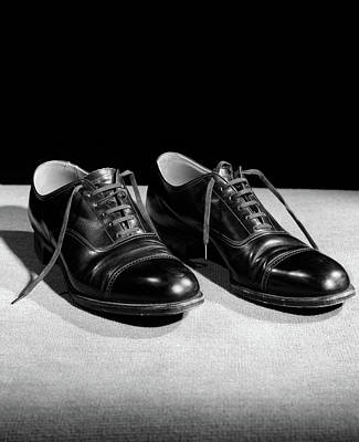 1930s Pair Of Black Lace Up Mens Shoes Poster