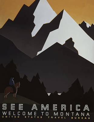 Poster featuring the painting 1930's See America by American Classic Art
