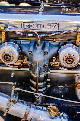 1931 Bentley 4.5 Liter Supercharged Le Mans Engine Emblem Poster by Jill Reger