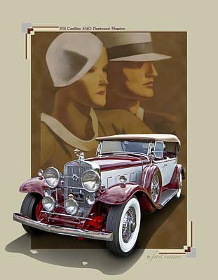 1931 Cadillac 4760 Fleetwood Phaeton Poster by Roger Beltz