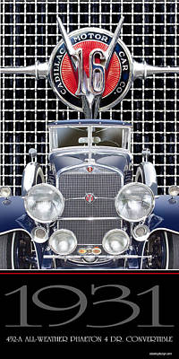Poster featuring the photograph 1931 Cadillac V-16 Phaeton by Ed Dooley