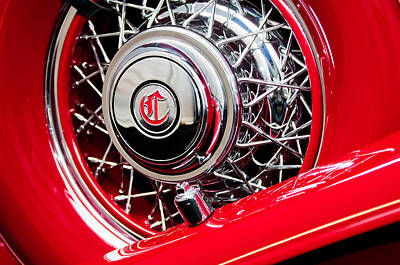 1931 Chrysler Cg Imperial Dual Cowl Phaeton Spare Tire Poster by Jill Reger