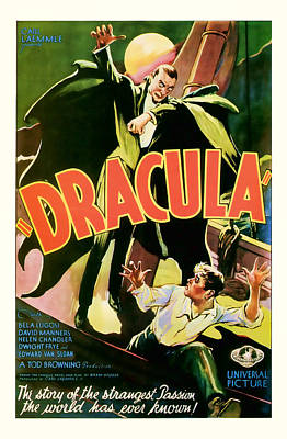 1931 Dracula Vintage Movie Art Poster
