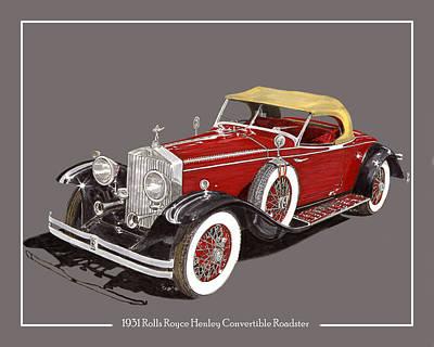 1931 Henley Rolls Royce Henley Roadster Poster by Jack Pumphrey
