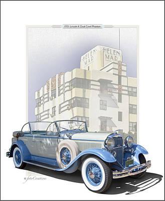 1931 Lincoln K Dual Phaeton Poster