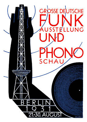 1931 Radio And Music Exhibition Poster by Historic Image