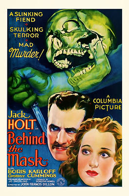 1932 Behind The Mask Vintage Movie Art Poster