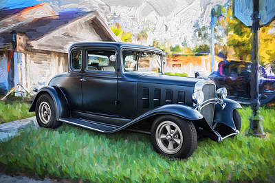 1932 Chevrolet 5 Window Coupe Painted Poster by Rich Franco