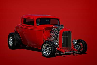 1932 Ford 3 Window Hot Rod Poster by Tim McCullough