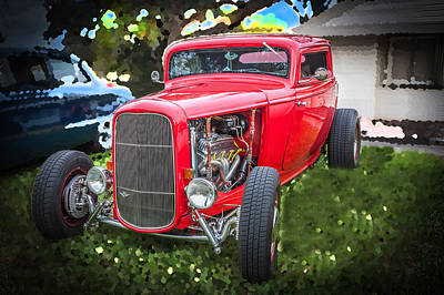 1932 Ford Red Coupe  Poster
