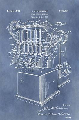 1932 Machine Patent Poster by Dan Sproul