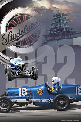 1932 Studebaker Indy Poster