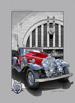 1932 Stutz Dv32 Bearcat Poster