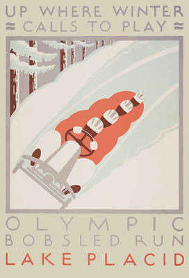 Poster featuring the painting 1932 Winter Olympics by American Classic Art