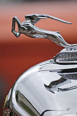 1933 Chrysler Cl Imperial Hood Ornament Poster by Jill Reger