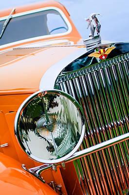1933 Hispano-suiza J12 Vanvooren Coupe Grill Emblem - Hood Ornament Poster by Jill Reger