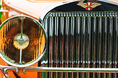 1933 Hispano-suiza J12 Vanvooren Coupe Grille Emblem Poster by Jill Reger