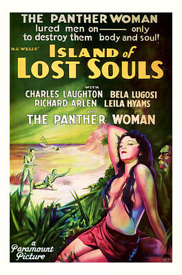 1933 Island Of Lost Souls Vintaage Movie Art Poster