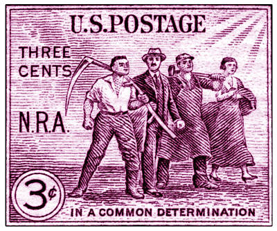 1933 National Recovery Act Stamp Poster by Historic Image