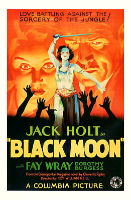 1934 Black Moon Vintage Movie Art Poster