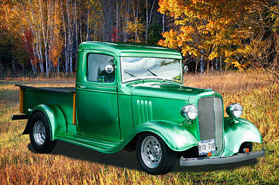 1934 Chev Pickup Poster by Richard Farrington