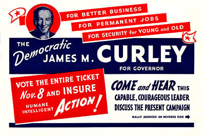 1934 James Michael Curley Poster by Historic Image