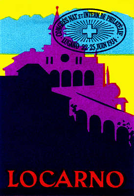 1934 Locarno Switzerland Poster