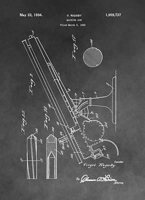 1934 Machine Gun Poster