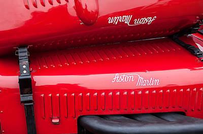 1935 Aston Martin Ulster Race Car Hood Poster by Jill Reger