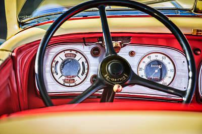 1935 Auburn 851 Supercharged Boattail Speedster Steering Wheel Poster by Jill Reger