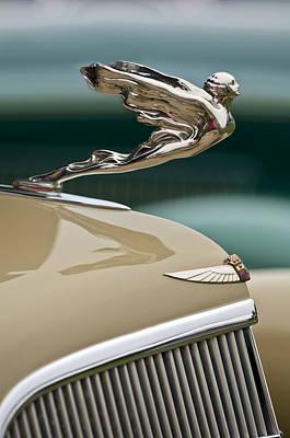 1935 Cadillac Convertible Hood Ornament Poster by Jill Reger
