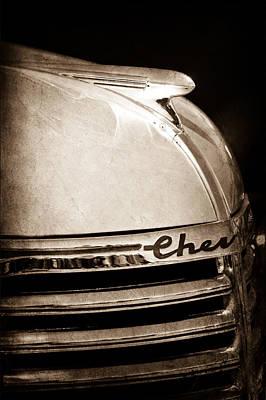 1935 Chevrolet Hood Ornament - Emblem Poster by Jill Reger