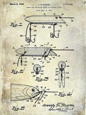 1935 Fishing Lure Patent Poster by Jon Neidert