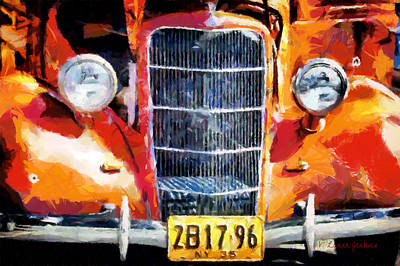 1935 Ford Coupe Poster by Lynne Jenkins