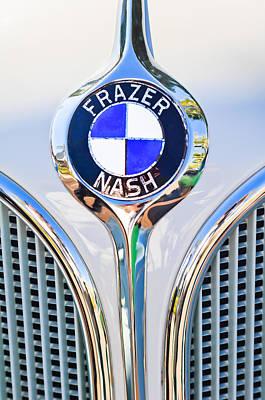 1935 Fraser Nash - Bmw 319 Roadster Emblem Poster by Jill Reger