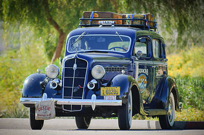 1935 Plymouth Taxi Cab Poster by Jill Reger