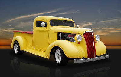 1937 Chevrolet Pickup Truck Poster by Frank J Benz