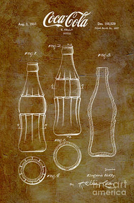 1937 Coca Cola Bottle Design Patent Art 6 Poster by Nishanth Gopinathan