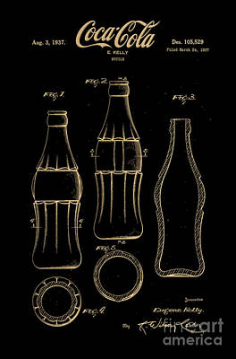 1937 Coca Cola Bottle Design Patent Art 7 Poster by Nishanth Gopinathan