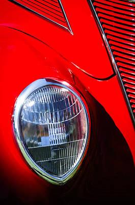 1937 Ford Tudor Headlight Poster